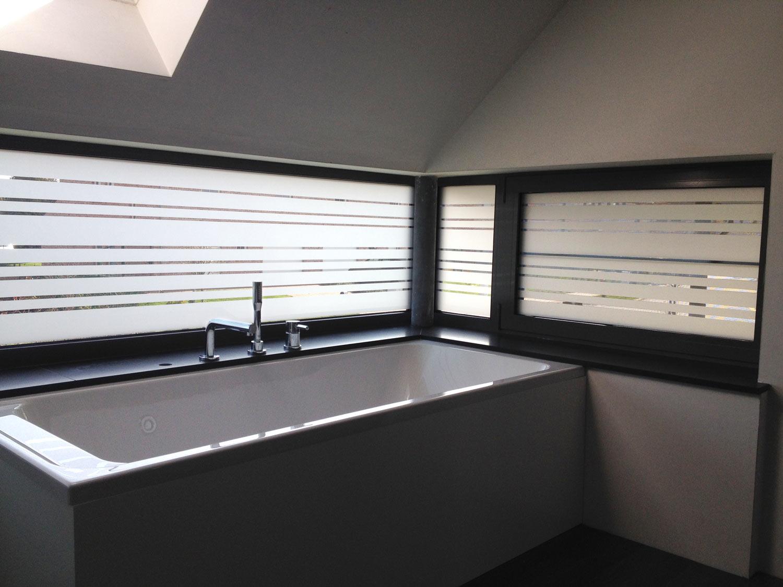 Un vinyle à effet sablage pour vitres,Bruxelles et Brabant Wallon